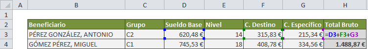 tabla excel referencias relativas