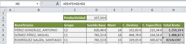 excel referencias absolutas error